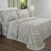 Kit: 1 Cobre-leito Casal + 2 Porta-travesseiros 150 fios - Gregory Natural - Dui Design