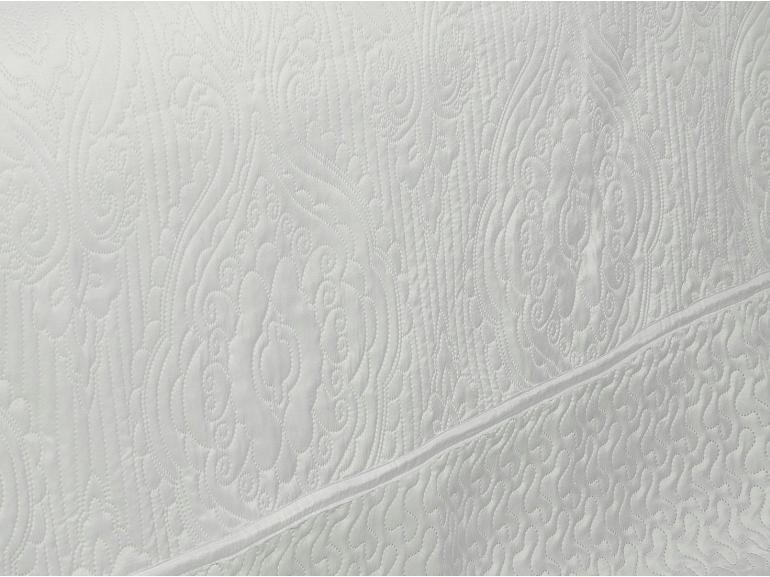 Kit: 1 Cobre-leito Casal Bouti de Microfibra Ultrasonic + 2 Porta-travesseiros - Hanover Branco - Dui Design
