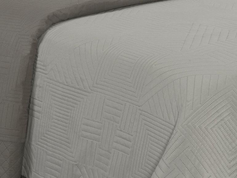 Kit: 1 Cobre-leito Queen Bouti de Microfibra Ultrasonic + 2 Porta-travesseiros - Hanover Stone - Dui Design