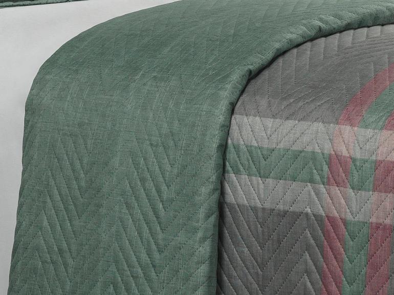 Kit: 1 Cobre-leito Queen Bouti de Microfibra Ultrasonic Estampada + 2 Porta-travesseiros - Harley Cinza - Dui Design