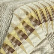 Kit: 1 Cobre-leito Solteiro Bouti de Microfibra Ultrasonic Estampada + 1 Porta-travesseiro - Harry Castanho - Dui Design