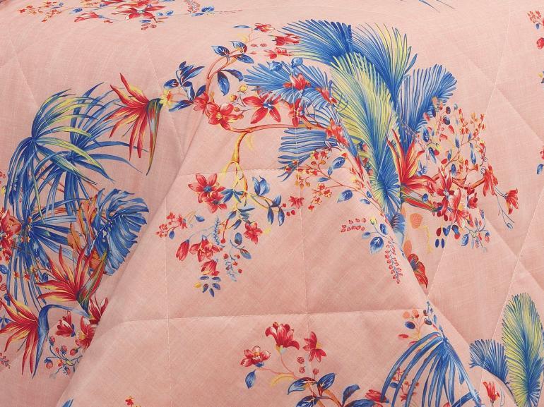 Kit: 1 Cobre-leito Casal + 2 Porta-travesseiros 150 fios - Havana Nude - Dui Design