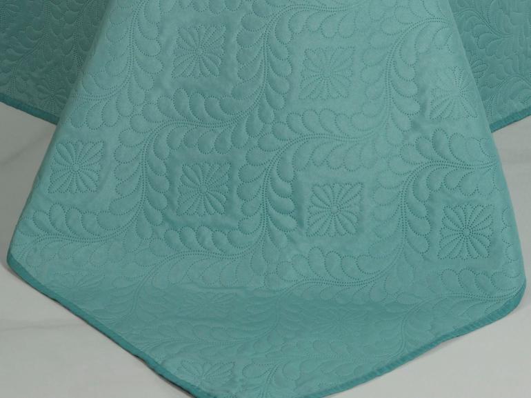 Kit: 1 Cobre-leito Casal Bouti de Microfibra Ultrasonic + 2 Porta-travesseiros - Haven Turquesa - Dui Design