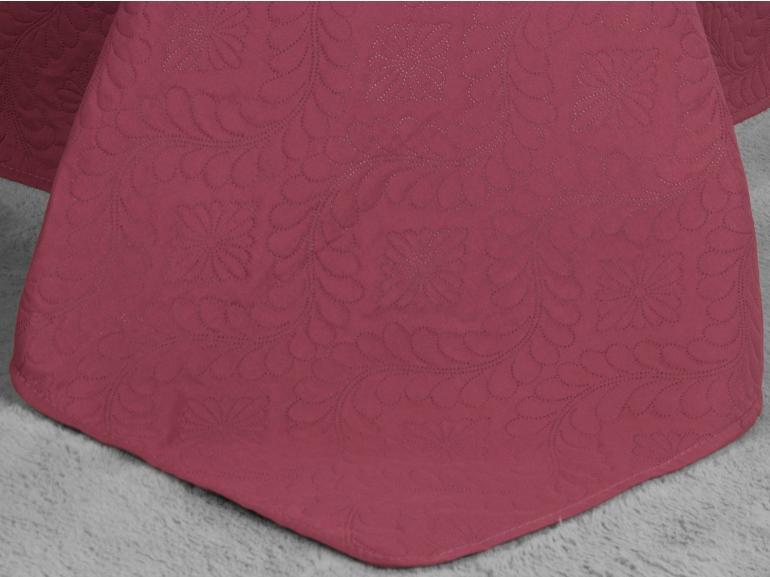 Kit: 1 Cobre-leito Casal Bouti de Microfibra Ultrasonic + 2 Porta-travesseiros - Haven Rosa Baroque - Dui Design