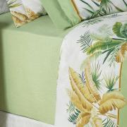 Jogo de Cama Queen Percal 180 fios - Heide Verde - Dui Design
