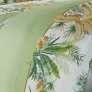 Jogo de Cama Casal Percal 180 fios - Heide Verde - Dui Design
