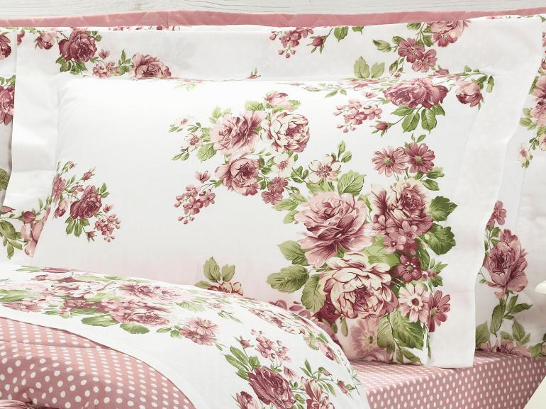 Edredom Solteiro Percal 200 fios - Helena Rosa - Dui Design