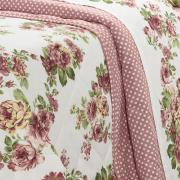 Kit: 1 Cobre-leito Casal + 2 Porta-travesseiros Percal 200 fios - Helena Rosa - Dui Design