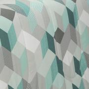 Jogo de Cama Casal 150 fios - Henry Turquesa - Dui Design