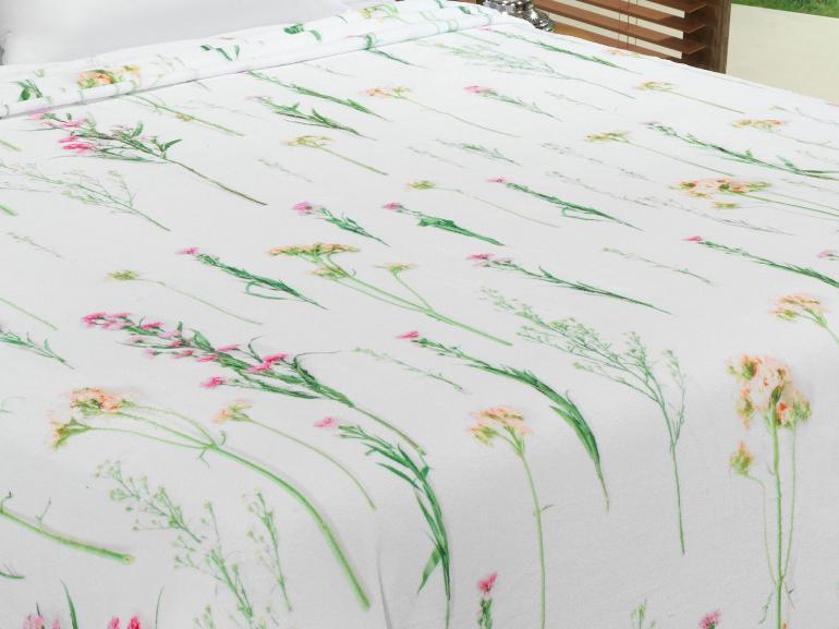 Cobertor Avulso King Flanelado com Estampa Digital - Herbal - Dui Design