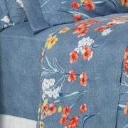 Jogo de Cama Queen Percal 180 fios - Hilary Azul - Dui Design