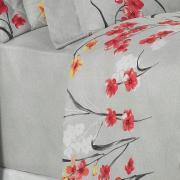 Jogo de Cama Queen Percal 180 fios - Hilary Cinza - Dui Design