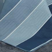 Kit: 1 Cobre-leito King Bouti de Microfibra Ultrasonic Estampada + 2 Porta-travesseiros - Hilton Azul - Dui Design