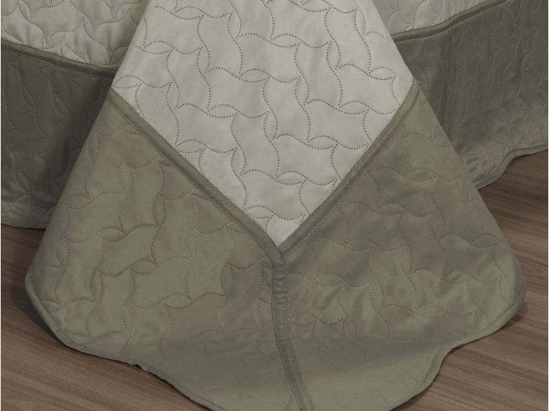 Kit: 1 Cobre-leito Solteiro Bouti de Microfibra Ultrasonic + 1 Porta-travesseiro - Horus Stone - Dui Design