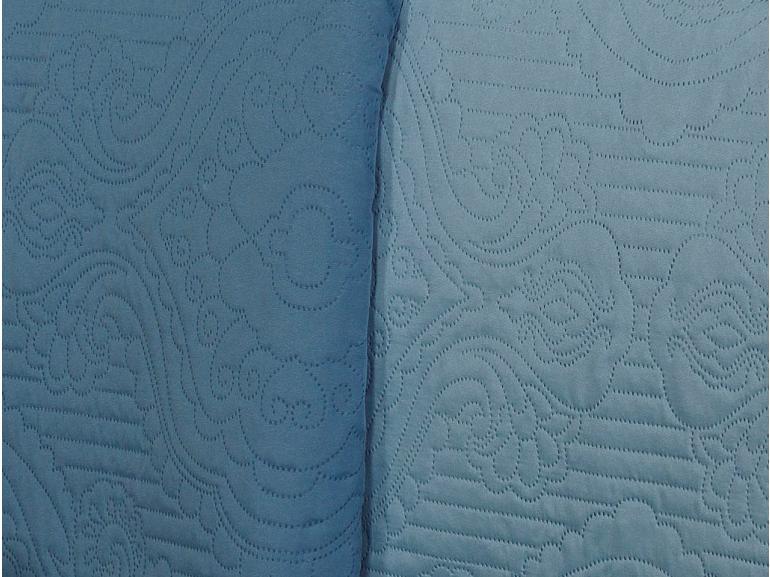 Kit: 1 Cobre-leito Queen Bouti de Microfibra Ultrasonic + 2 Porta-travesseiros - Imperio Azul Cristal - Dui Design