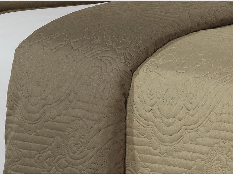 Kit: 1 Cobre-leito Casal Bouti de Microfibra Ultrasonic + 2 Porta-travesseiros - Imperio Bege - Dui Design