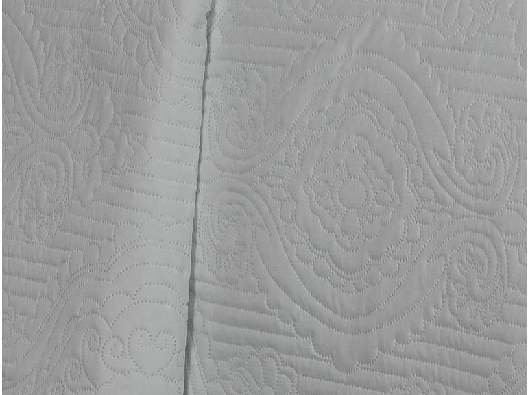 Kit: 1 Cobre-leito Casal Bouti de Microfibra Ultrasonic + 2 Porta-travesseiros - Imperio Branco - Dui Design