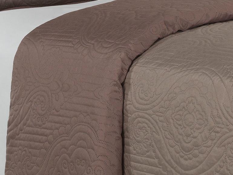Kit: 1 Cobre-leito Casal Bouti de Microfibra Ultrasonic + 2 Porta-travesseiros - Imperio Noz Moscada - Dui Design