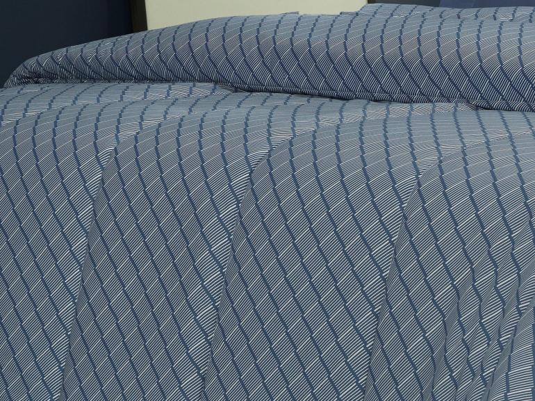 Edredom Solteiro Percal 200 fios - Ipsum Indigo - Dui Design