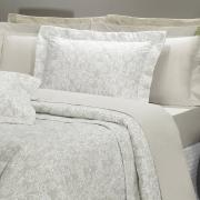 Kit: 1 Cobre-leito Casal + 2 Porta-travesseiros Percal 200 fios - Ipsum 4 Bege - Dui Design