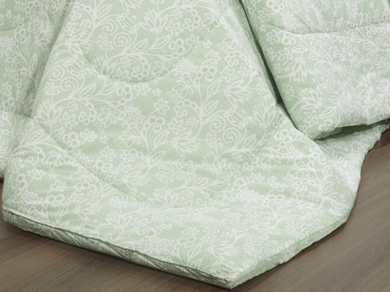 Edredom Solteiro Percal 200 fios - Ipsum Verde Celadon - Dui Design