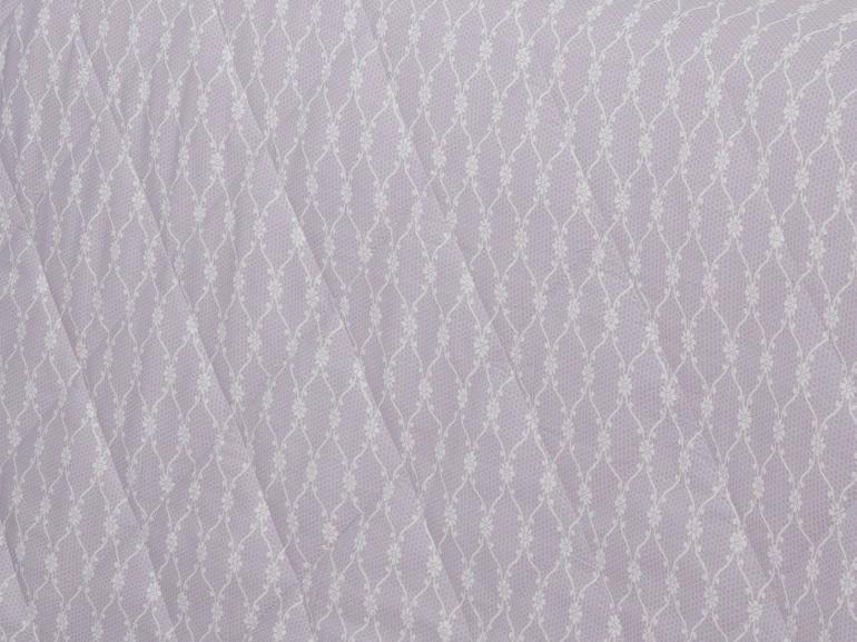 Kit: 1 Cobre-leito Queen + 2 Porta-travesseiros Percal 200 fios - Ipsum 5 Lilás - Dui Design