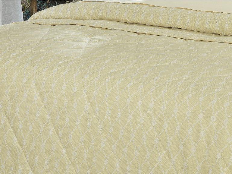 Kit: 1 Cobre-leito Casal + 2 Porta-travesseiros Percal 200 fios - Ipsum 5 Pérola - Dui Design