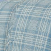 Enxoval King com Cobre-leito 7 peças Percal 200 fios - Ipsum Azul - Dui Design