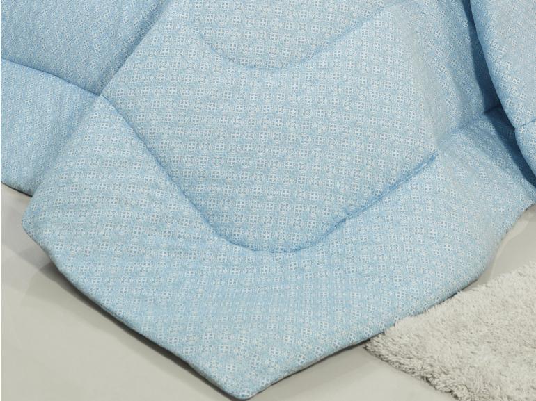 Edredom Solteiro Percal 200 fios - Ipsum Azul - Dui Design