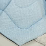 Edredom Casal Percal 200 fios - Ipsum Azul - Dui Design