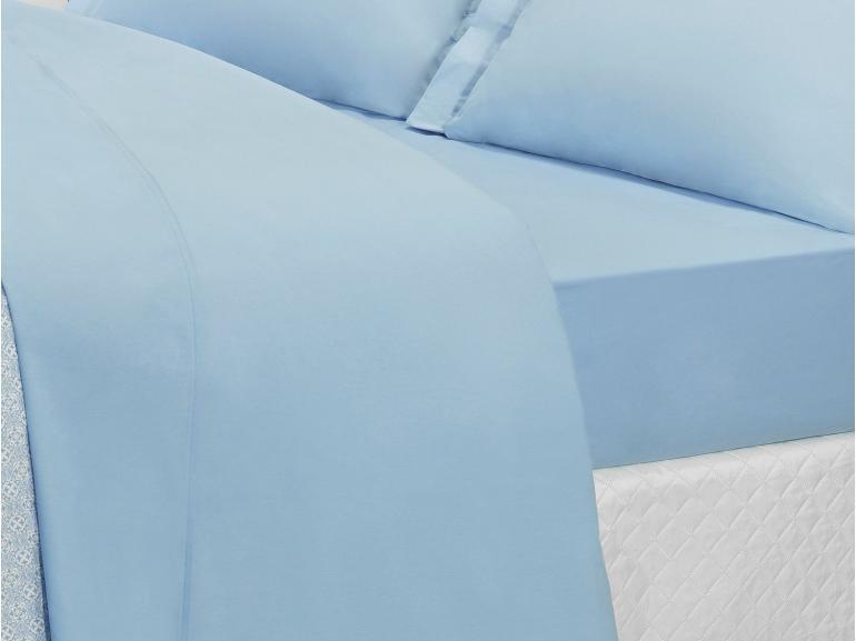 Jogo de Cama Solteiro Percal 200 fios 100% Algodão - Ipsum Azul - Dui Design