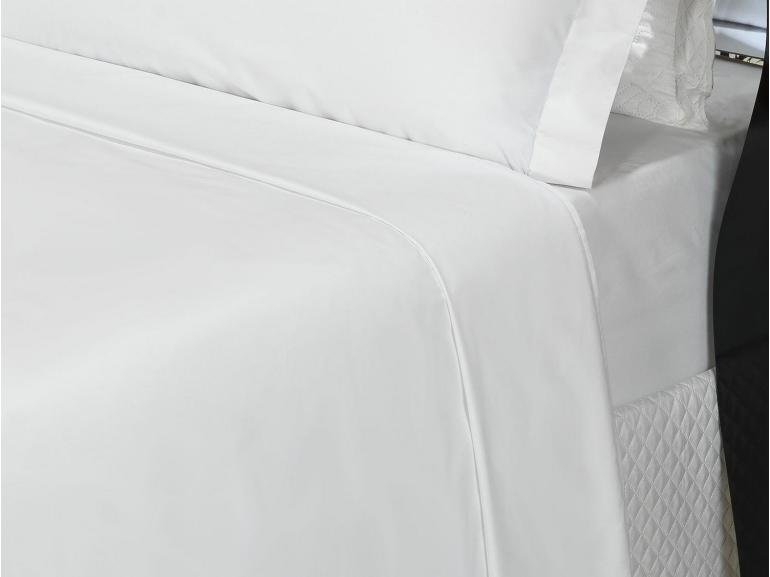 Jogo de Cama Casal Percal 200 fios 100% Algodão - Ipsum Branco - Dui Design