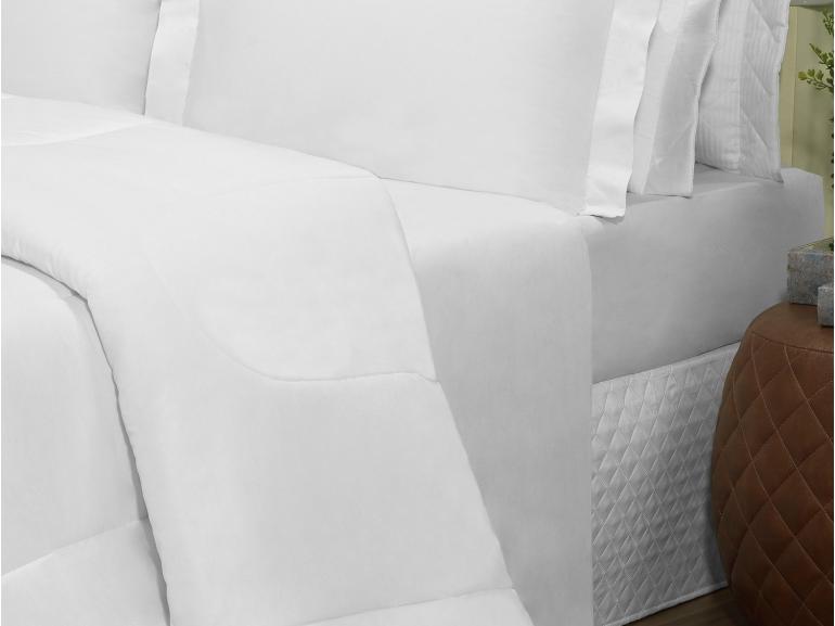 Edredom Casal Percal 200 fios - Ipsum Branco - Dui Design
