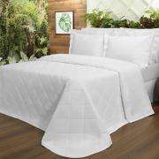 Kit: 1 Cobre-leito King + 2 Porta-travesseiros Percal 200 fios - Ipsum Branco - Dui Design