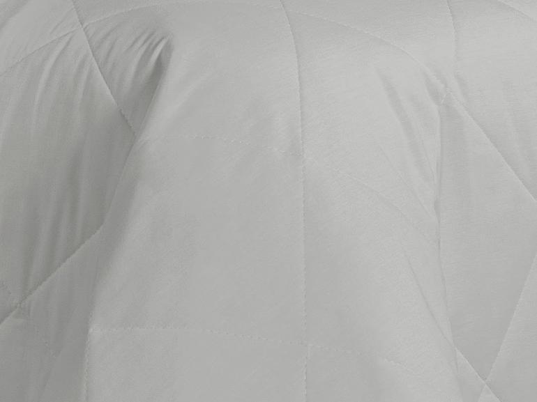 Kit: 1 Cobre-leito Solteiro + 1 Porta-travesseiro Percal 200 fios - Ipsum Branco - Dui Design