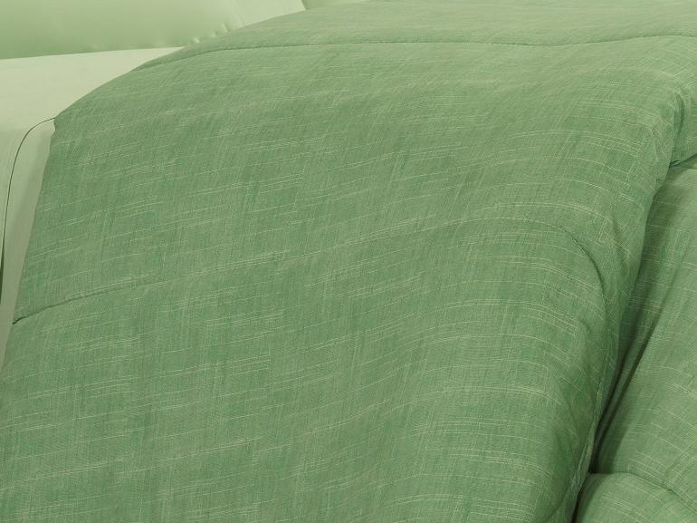 Enxoval King com Edredom 5 peças Percal 200 fios - Ipsum Verde Celadon - Dui Design