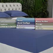 Lençol Casal com elástico Avulso Percal 200 fios 100% Algodão - Ipsum Cores - Dui Design