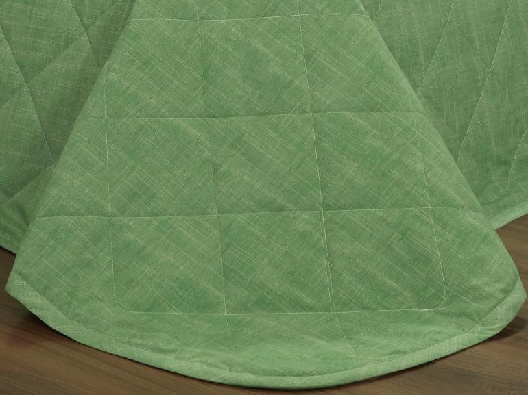 Kit: 1 Cobre-leito Casal + 2 Porta-travesseiros Percal 200 fios - Ipsum Verde Celadon - Dui Design