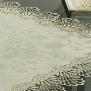 Centro de Mesa com Bordado Guipir Fácil de Limpar 85x85cm Avulso - Isadore Bege - Dui Design