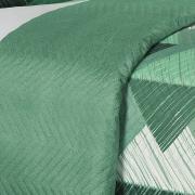 Kit: 1 Cobre-leito Casal Bouti de Microfibra Ultrasonic Estampada + 2 Porta-travesseiros - Itachi Confrei - Dui Design