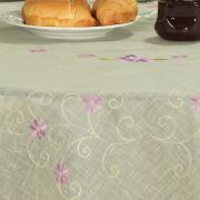 Toalha de Mesa com Bordado Richelieu Redonda 180cm - Izabel Lilás - Dui Design