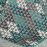 Kit: 1 Cobre-leito Casal Bouti de Microfibra Ultrasonic Estampada + 2 Porta-travesseiros - Jacarta Turquesa - Dui Design