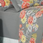 Jogo de Cama Queen Percal 180 fios - Jackie Cinza - Dui Design