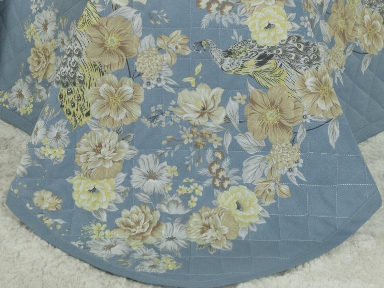 Kit: 1 Cobre-leito Queen + 2 Porta-travesseiros Percal 180 fios - Jackie Jeans - Dui Design