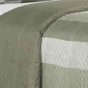 Kit: 1 Cobre-leito Queen Bouti de Microfibra Ultrasonic Estampada + 2 Porta-travesseiros - Jackson Stone - Dui Design