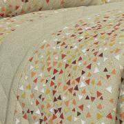 Kit: 1 Cobre-leito Casal + 2 Porta-travesseiros 150 fios - James Camurça - Dui Design