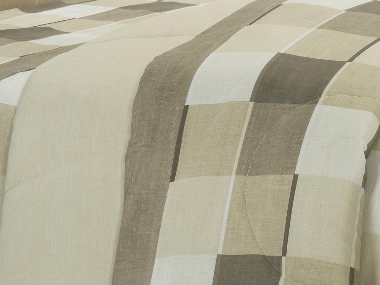 Edredom King 150 fios - Jasper Taupe - Dui Design