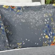 Kit: 1 Cobre-leito Queen Bouti de Microfibra Ultrasonic Estampada + 2 Porta-travesseiros - Jenny Indigo - Dui Design
