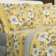 Jogo de Cama Casal 150 fios - Jessy Amarelo - Dui Design