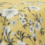 Kit: 1 Cobre-leito Casal + 2 Porta-travesseiros 150 fios - Jessy Amarelo - Dui Design